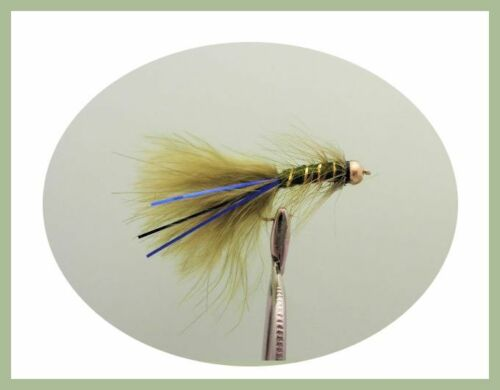 Flash Damsels Dawsons Olive 18 Pack Cats Whiskers Trout Flies Lures Size 10