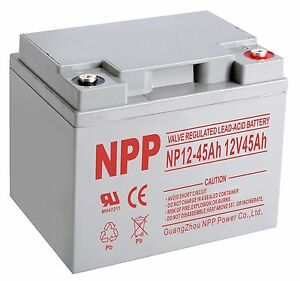 npp 12v 45 amp 40ah 45ah 50ah agm ups backup battery replace power sonic ps12400. Black Bedroom Furniture Sets. Home Design Ideas