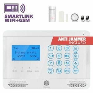ANTIFURTO ALLARME CASA WIRELESS TOUCH COMBINATORE GSM WIFI INTERNET SMARTLINK100
