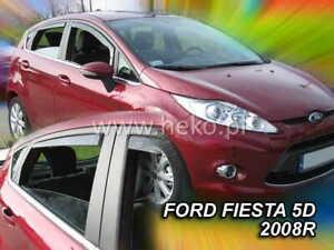 Wind deflectors for Ford Fiesta MK6 (MK7 in UK) 2008 - 2017  5D  4.pc HEKO 15287