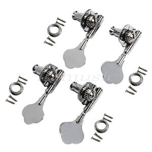 bass guitar tuning keys pegs tuners machine heads for jazz p parts chrome 4r 634458554091 ebay. Black Bedroom Furniture Sets. Home Design Ideas