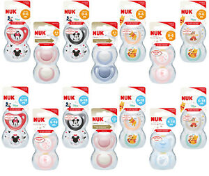 Baby Soother Dummy Pacifier Teat Nipple 0-6m / 6-18m 2 Pack Boy / Girl Nuk
