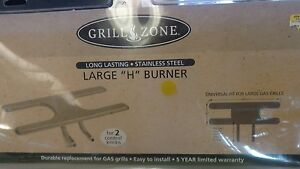 Details about Free shipping GRILL ZONE large H Burner Item Number 554741  43050 NEW In Package
