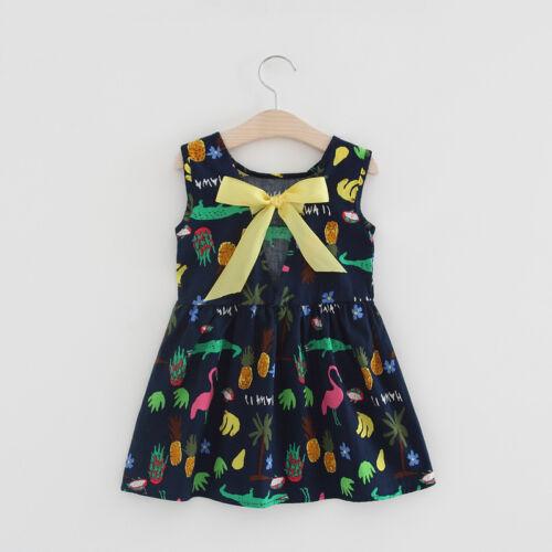 1pc toddler summer clothes girls baby sleeveless dress kids cotton dress cartoon