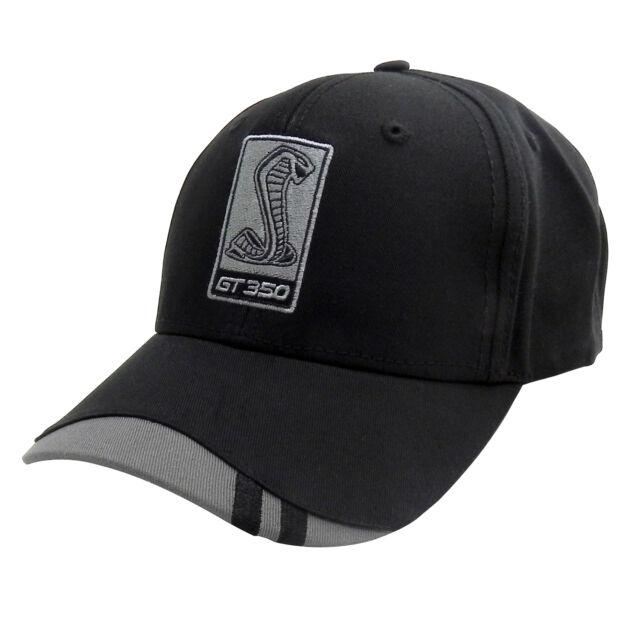 9bf00f256 Ford Mustang Shelby Gt350 Cobra Black Baseball Cap Hat