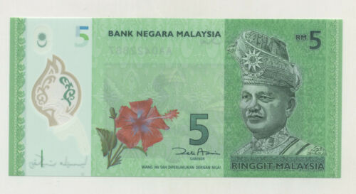 Malaysia 5 Ringgit ND 2012 Pick 52 UNC Uncirculated Banknote