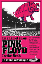 Classic Rock: Pink Floyd at  the Montreal Olympic Stadium Concert Poster 1977