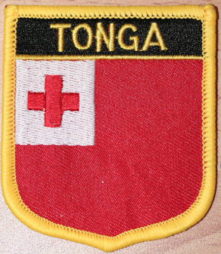 TONGA Shield Country Flag Embroidered PATCH Badge P1