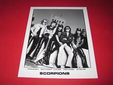THE SCORPIONS  original 10x8 inch promo press photo photograph 3368-1