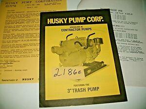 1981 HUSKY WATER PUMPS