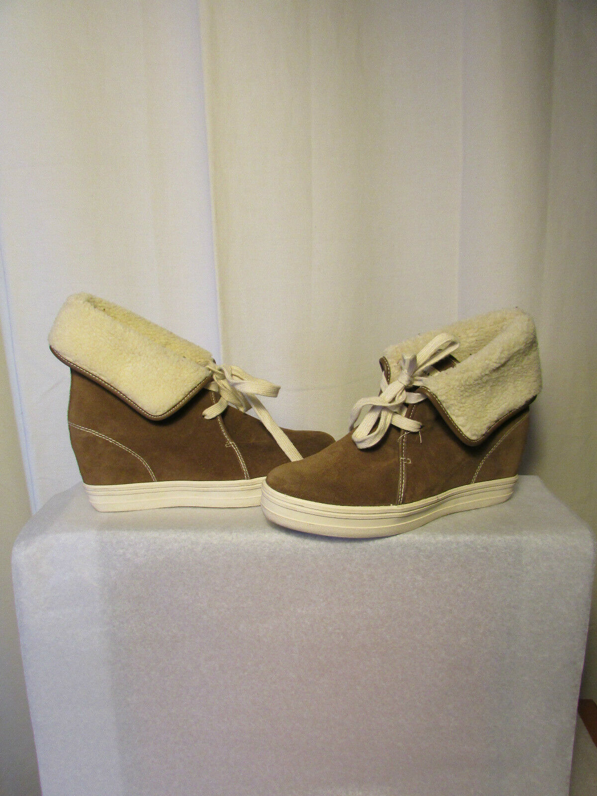 Boots wedge boots PAUL and JOE sister suede mole and moumoute 40