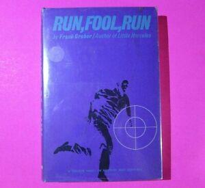 Run, Fool, Run by Frank Gruber 1966 First Edition 1st Printing Mystery, Western