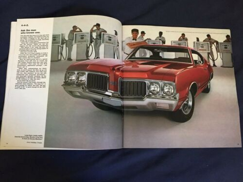 1970 Oldsmobile 88 98 Toronado Cutlass F85 442 Brochure Catalog Prospekt