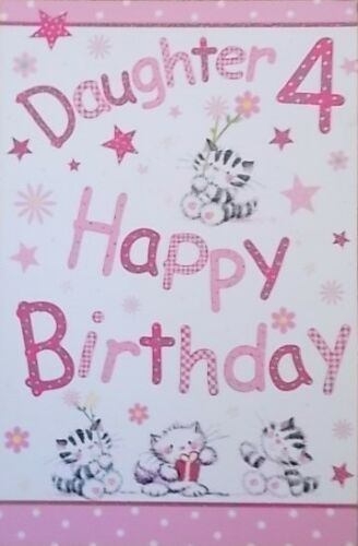 DAUGHTER BIRTHDAY GREETINGS CARDS AGE 4    206074