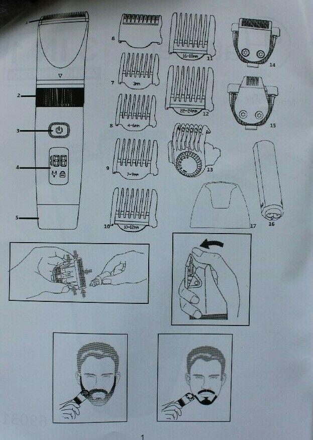 HATTEKER RFC-690 31 Rasierer Elektrorasierer 3 in1 Haarschneider Bartschneider