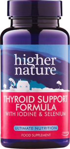 Higher Nature Thyroid Support Formula - Pack of 60 Capsules Packaging May Vary