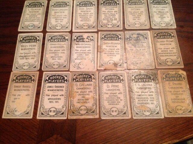 1911-12 C55 IMPERIAL TOBACCO HOCKEY CARD LOT (24) NHA NHL