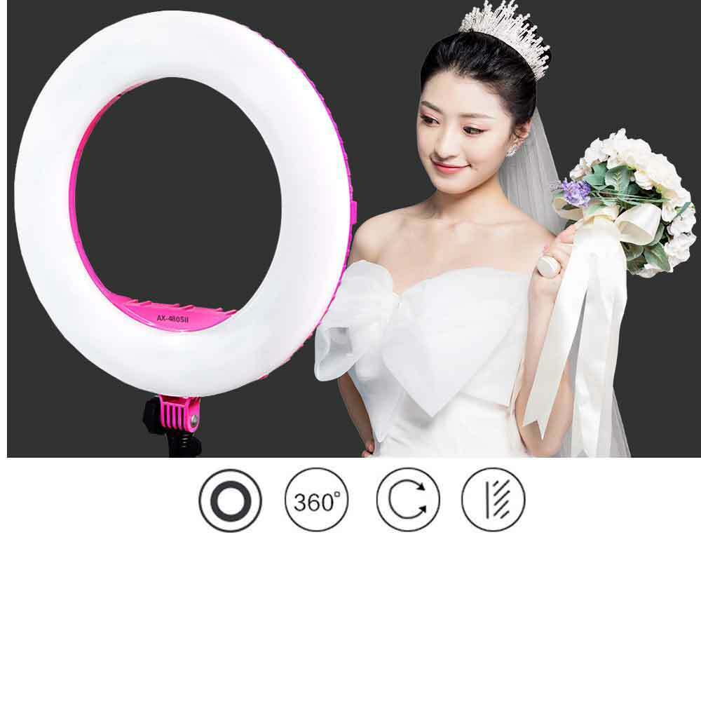 Yidoblo AX-480SII 18'' Bi-color Dimmable LED Ring Light For Youtube Video Makeup