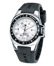 Tommy Hilfiger Mens Black Rubber Watch 1790485