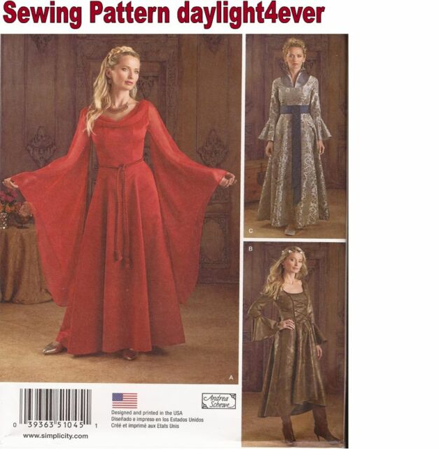 1045 Simplicity Misses Game of Thrones Medieval Gown Costume Pattern ...