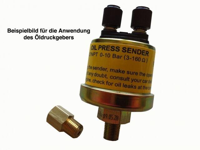 Raid Öl-Druck Geber//Dose 1//8 Zoll NPT Zusatzinstrument für Anzeigen bis 10 Bar