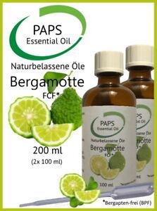 PAPS-Bergamottoel-FCF-200ml-zertifiziertes-naturreines-aetherisches-Ol