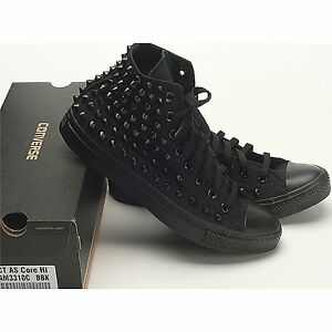 Details zu New Black Dark Color Custom Genuine Converse Spike Metal Stud Punk Rock Sneakers