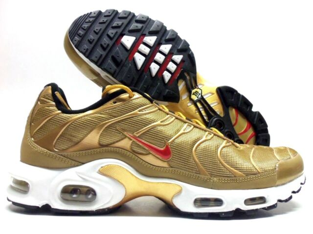 exclusive range fashion styles half off Nike Mens Air Max Plus QS TN Metallic Gold University Red 903827-700 Size 13