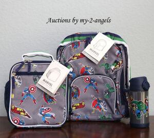 Pottery Barn Kids Marvel Gray Small Backpack Lunch Bag