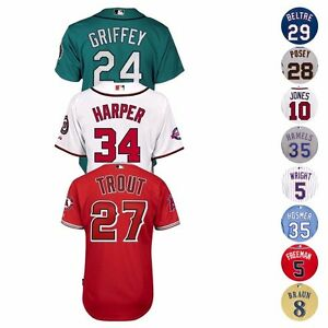 MLB-Official-Majestic-Authentic-On-Field-Cool-Base-Team-Player-Men-039-s-Jersey-6300