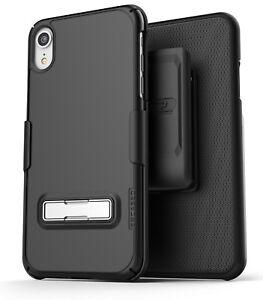 Apple iPhone XR Kickstand Belt Clip Case / Cover w Slim Holster Combo (Slimline)