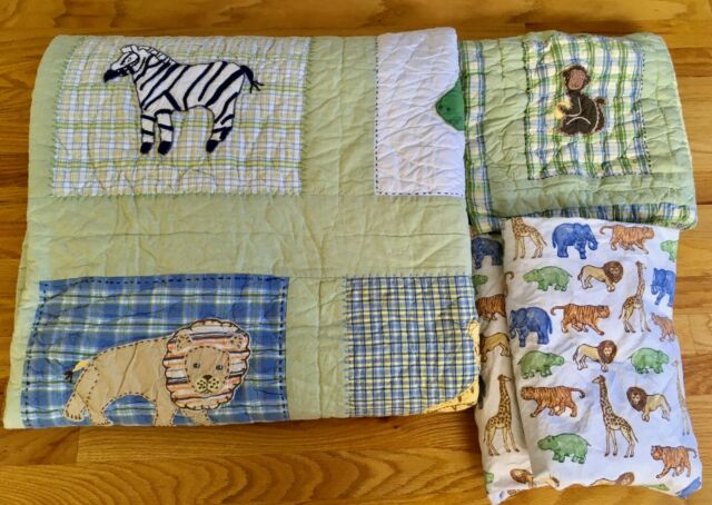 Pottery Barn Kids At The Zoo Jungle Monkey Twin Quilt Sham