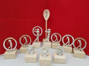 Details About Golf Trophies Golf Society Presentation Pack 10 Pieces Free Wooden Spoon