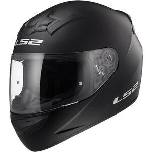 LS2-FF352-ROOKIE-Integrale-Casco-da-moto-motocicletta-nero-opaco