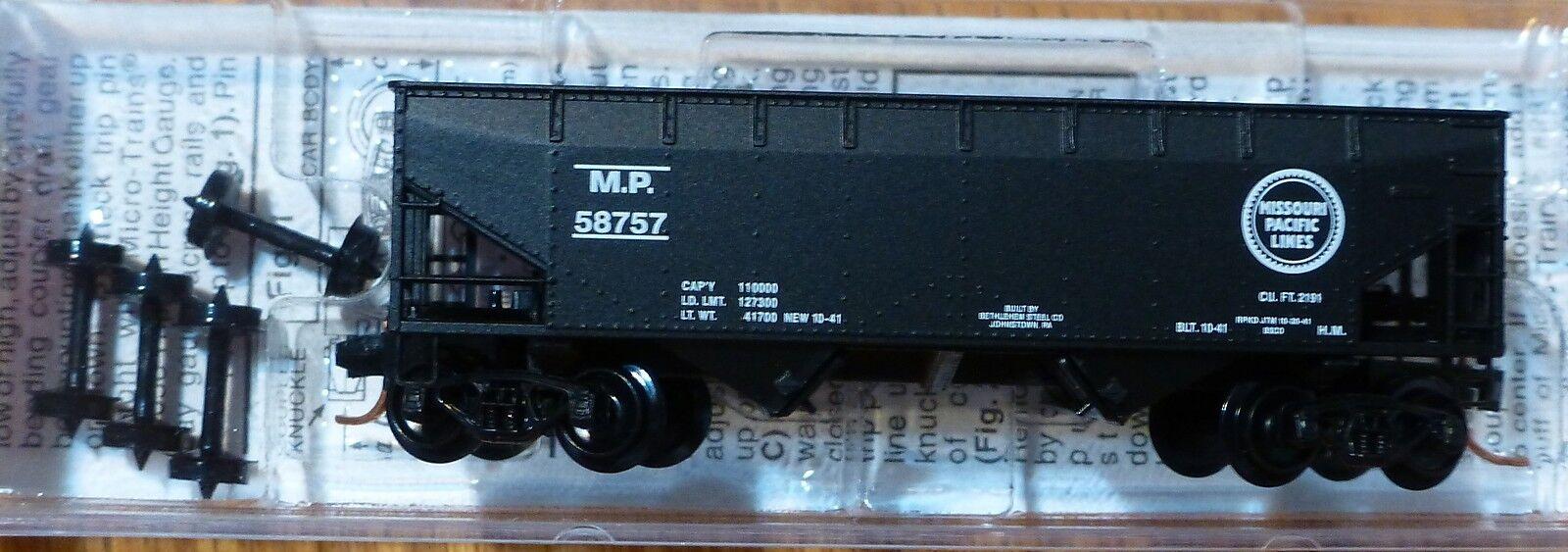 Micro-Trains Line #05500320 Rd #56757 33/' Twin-Bay Hopper Missouri Pacific