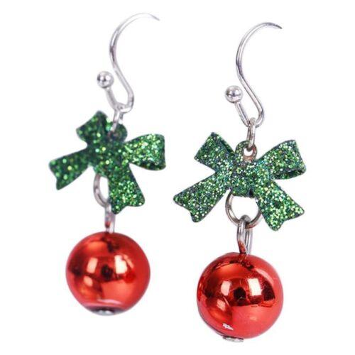 Weihnachten Ohrringe Frauen Romantische Fliege Ohrstein Fashion Shiny Stra QP 5X