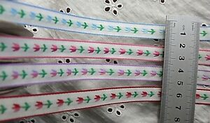 Woven-Tulip-Ribbon-Duo-Coloured-12mm-Wide-3-amp-5-Metre-Lengths-4-Colour-Choice-SH5A