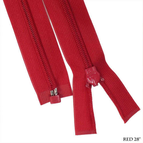 """Rare Item 1 Way Separating End 28/"""" Red Quality Invisible Zipper"""