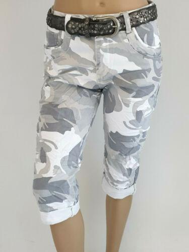 38-46 @--}-- Karostar Camouflage Capri Bermudas Jeans  Baggy Gr