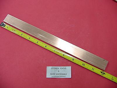 """1//4/"""" x 4/"""" Copper Flat Buss Bar x 12/"""" Long"""