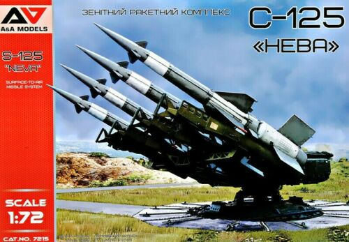 """A/&A Models 7215 Surface-To-Air Missile System S-125 """"Neva"""" Scale Model Kit 1//72"""