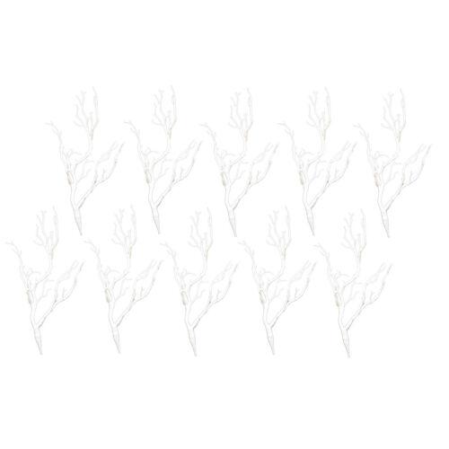 10 stücke Simulation Äste Zweige Home Hochzeit Blumen Arrangement weiß