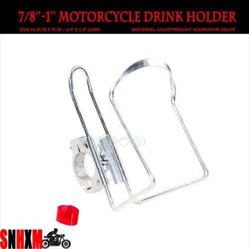 Silver Handlebar Drink Holder Fit For Yamaha Kawasaki Suzuki Honda Cruisers