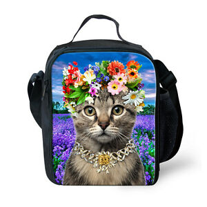 Kids-Animal-Cat-Dog-Cooler-Thermal-Lunch-Bag-Food-Bento-Box-Storage-Containers