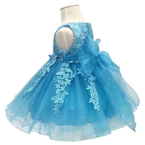 Toddler Baby Girls Princess Tutu Dress Baptism Pageant Birthday Party Ball Gown