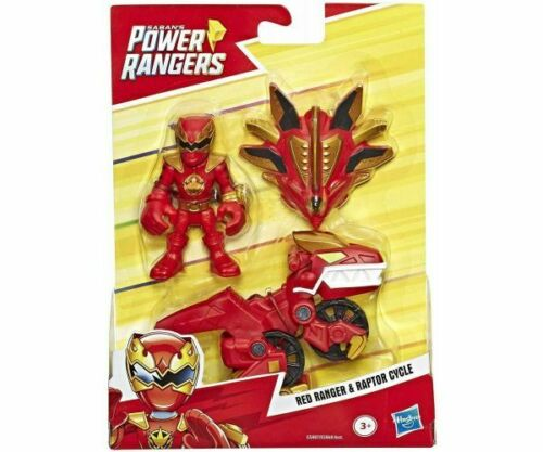 Playskool EROI POWER RANGERS RED RANGER /& RAPTOR CICLO-Nuovo di Zecca