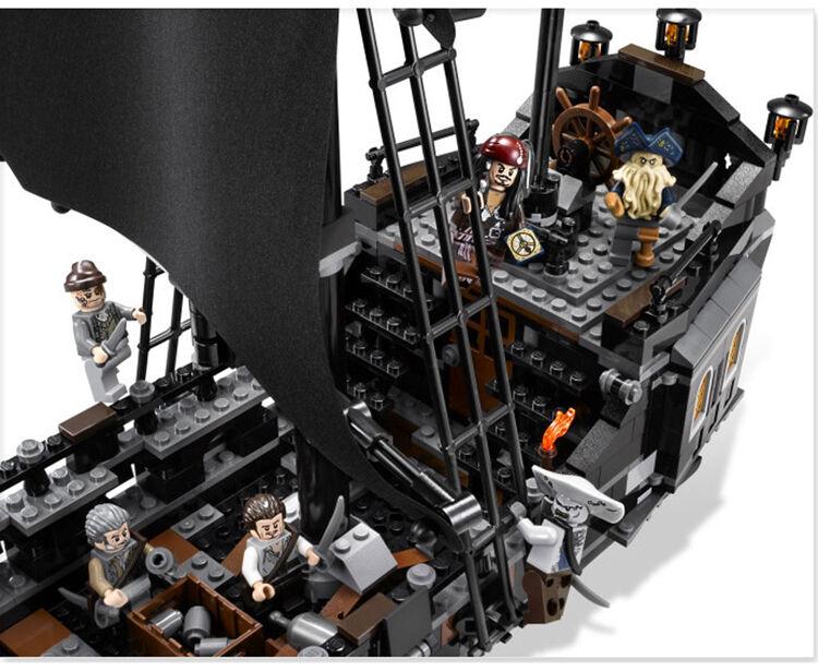 Die Black Pearl Schiff Piraten der Karibik Modell Bausteine Set Stück Spielzeug