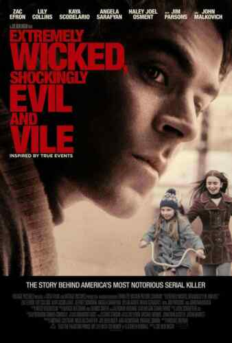 Extremely Wicked Shockingly Evil and Vile Fabric Poster Ted Bundy Zac Efron X252