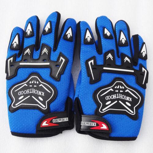 Children Kids Bike Gloves Full Finger Breathable Anti-slip For Sports Riding MX