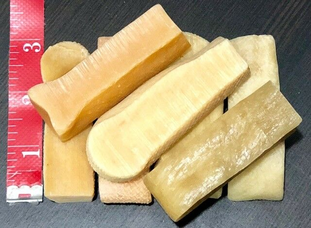 100 Pcs FRESH Himalayan Dog Chew Bulk SMALL Treat Bone Cheese GENUINE Yak Puppy